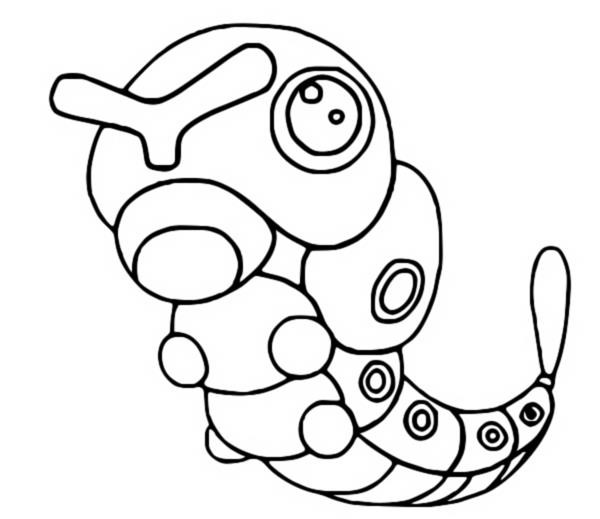 coloriage pokemon Chenipan