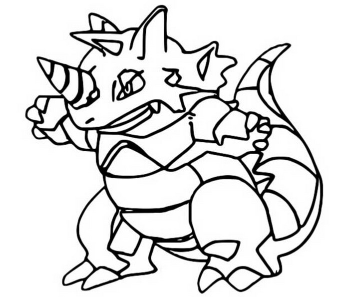 coloriage pokemon Rhinoféros