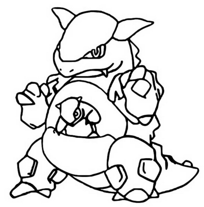 coloriage pokemon Kangourex