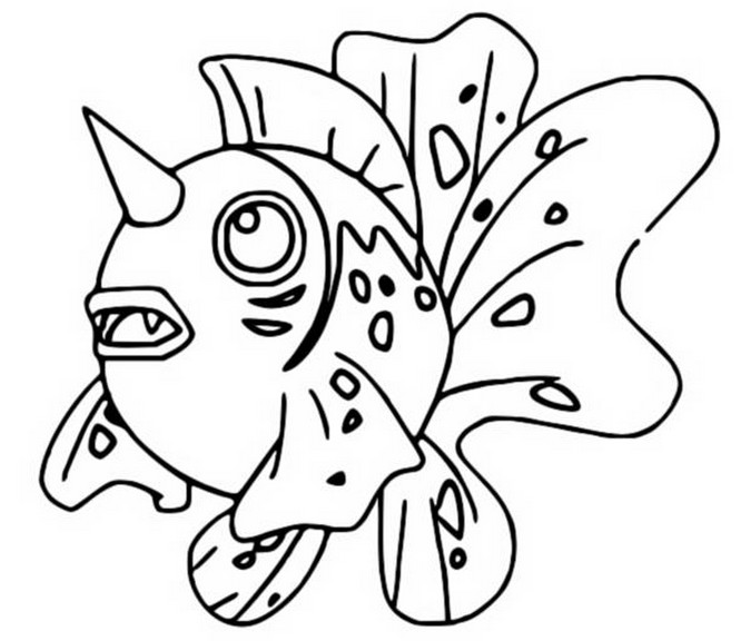 coloriage pokemon Poissoroy