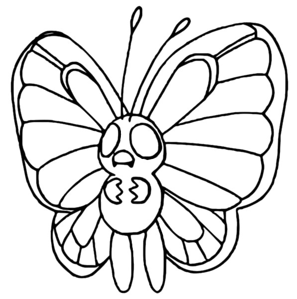 coloriage pokemon Papilusion