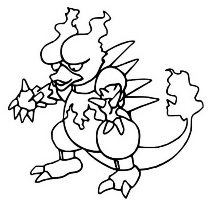 coloriage pokemon Magmar