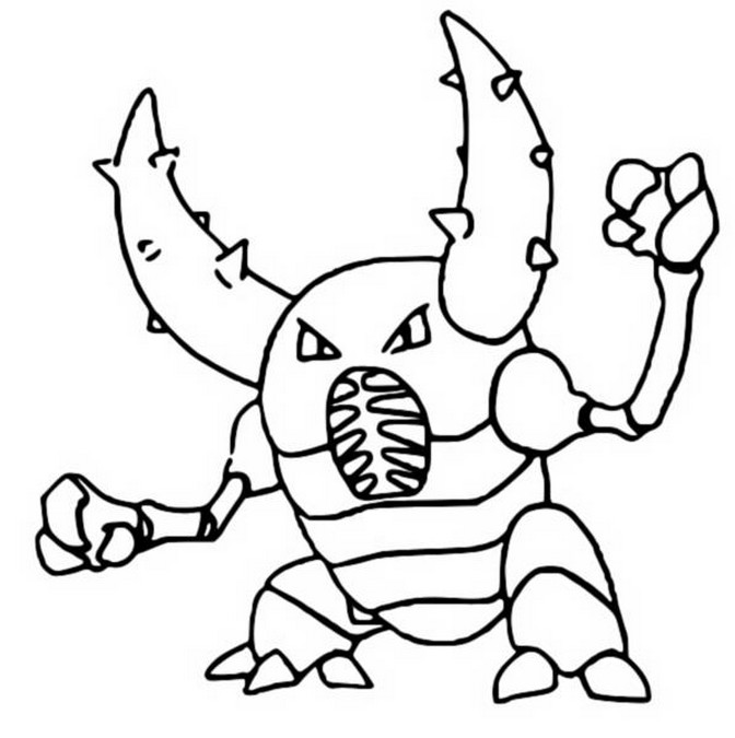 coloriage pokemon Scarabrute