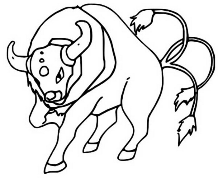 coloriage pokemon Tauros