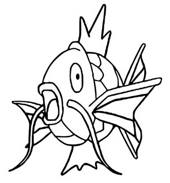 coloriage pokemon Magicarpe
