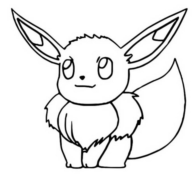coloriage pokemon Évoli