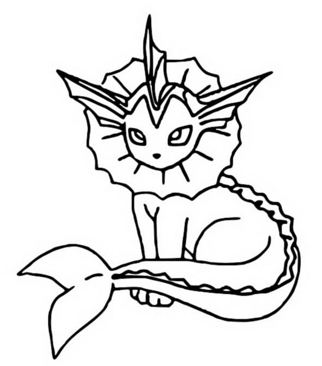 coloriage pokemon Aquali