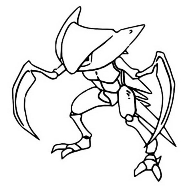 coloriage pokemon Kabutops