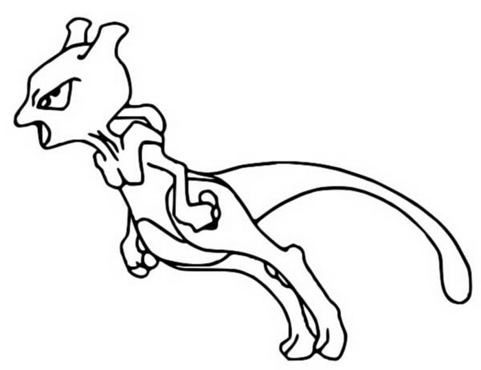 coloriage pokemon Mewtwo