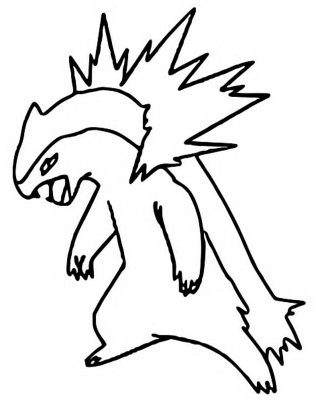 coloriage pokemon Typhlosion