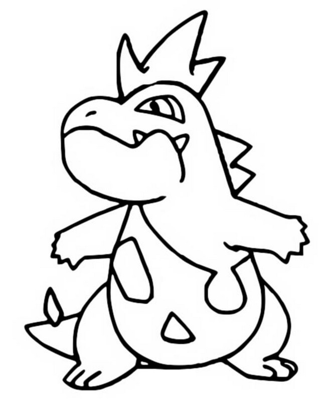 coloriage pokemon Crocrodil