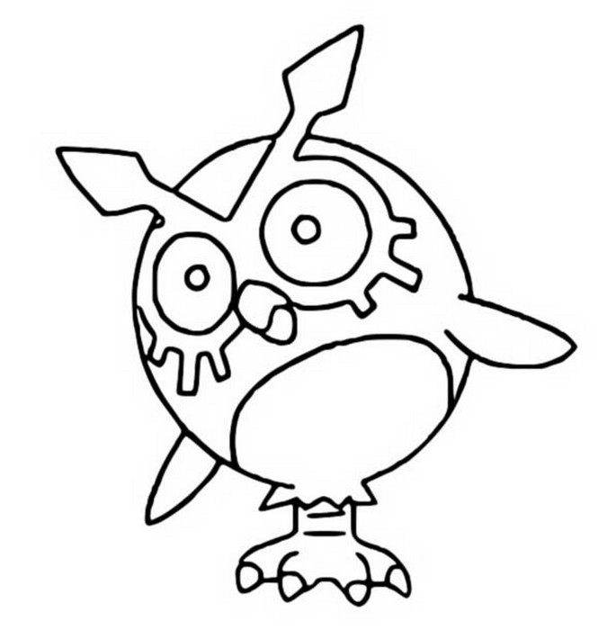 coloriage pokemon Hoothoot