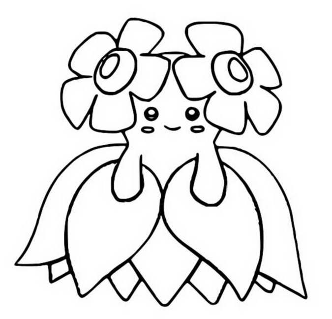coloriage pokemon Joliflor