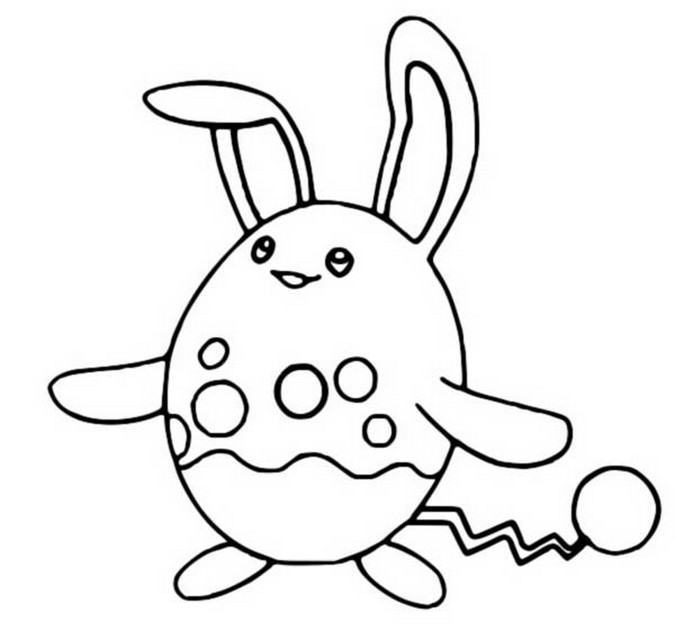 coloriage pokemon Azumarill
