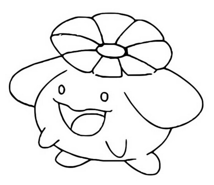 coloriage pokemon Floravol