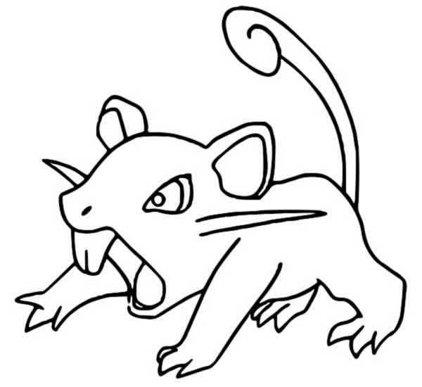 coloriage pokemon Rattata