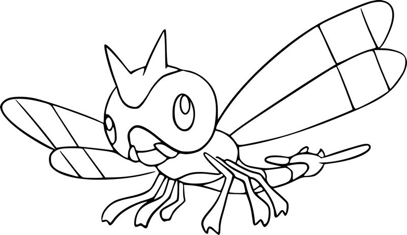 coloriage pokemon Yanma