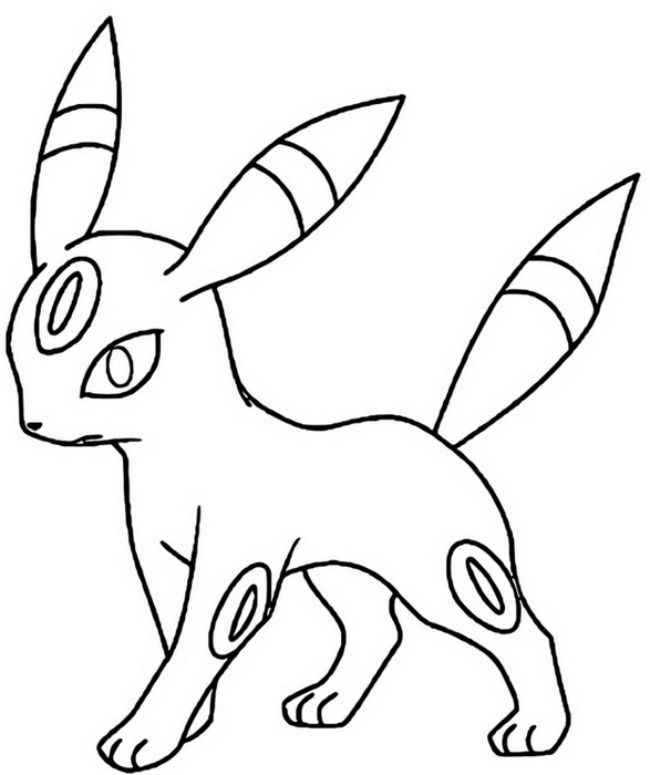 coloriage pokemon Noctali