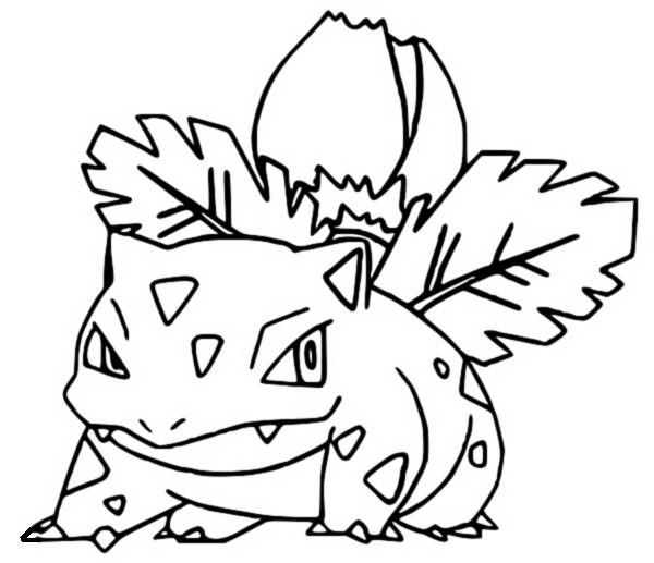 coloriage pokemon Herbizarre
