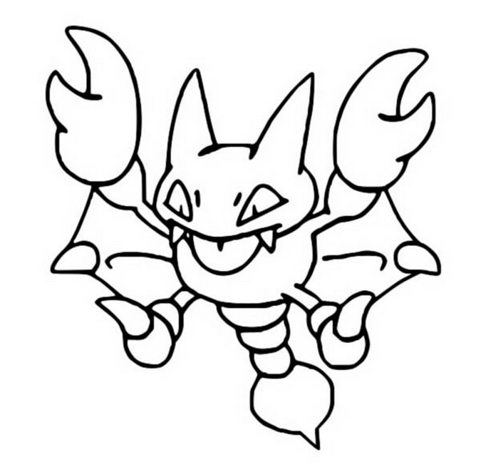 coloriage pokemon Scorplane