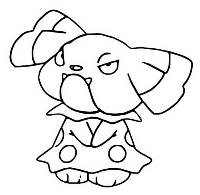 coloriage pokemon Snubbull
