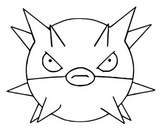 coloriage pokemon Qwilfish