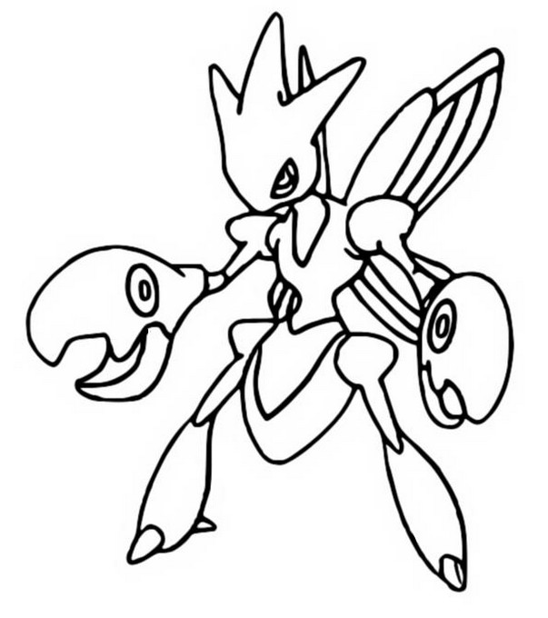 coloriage pokemon Cizayox
