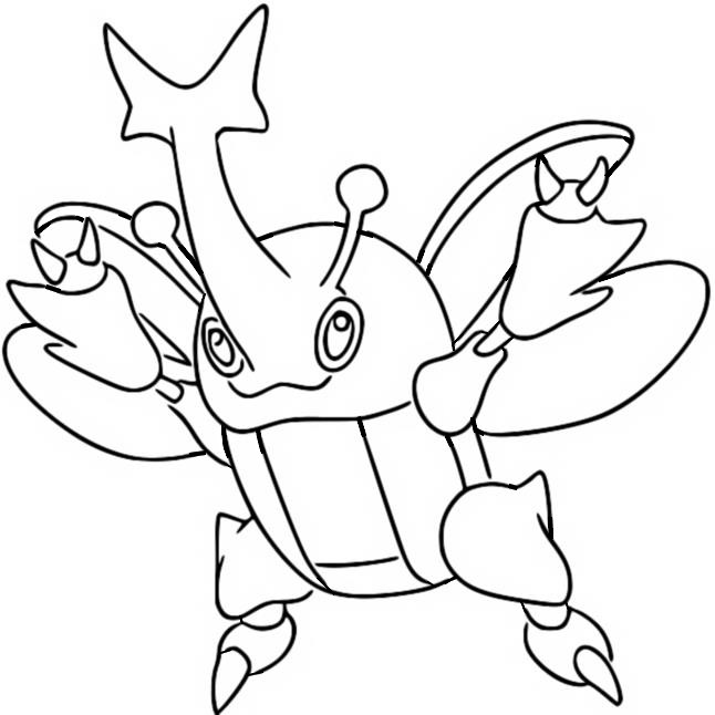 coloriage pokemon Scarhino