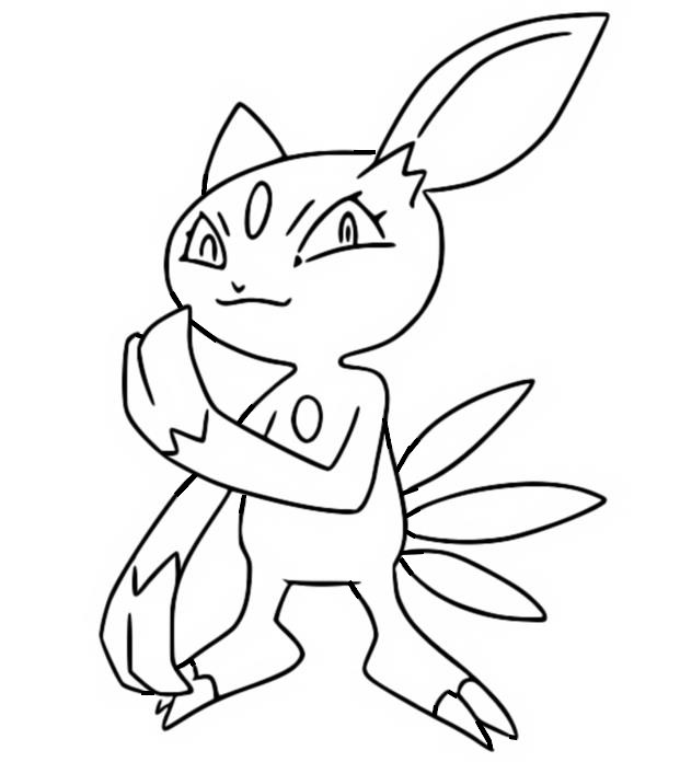 coloriage pokemon Farfuret