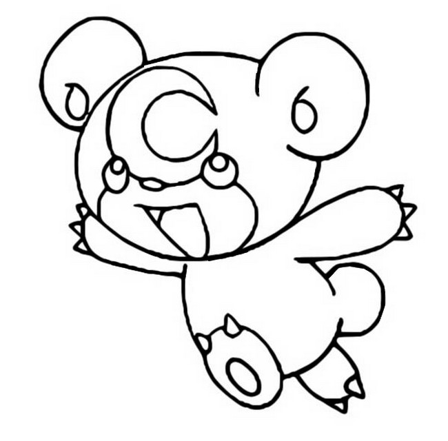 coloriage pokemon Teddiursa