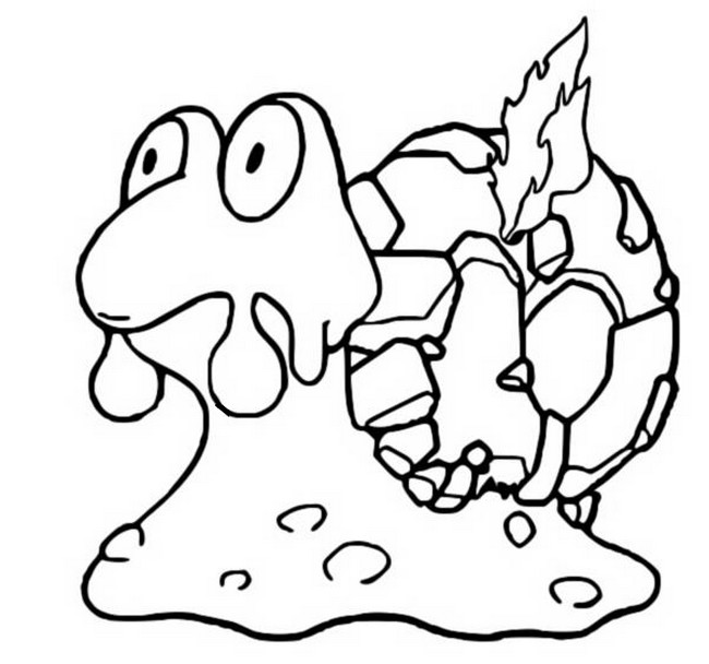 coloriage pokemon Volcaropod
