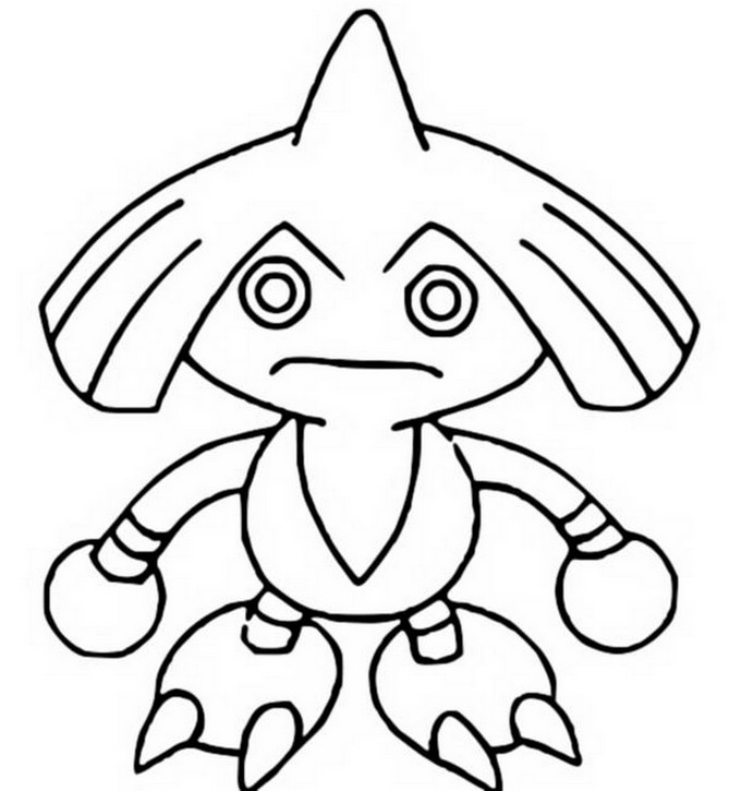 coloriage pokemon Kapoera