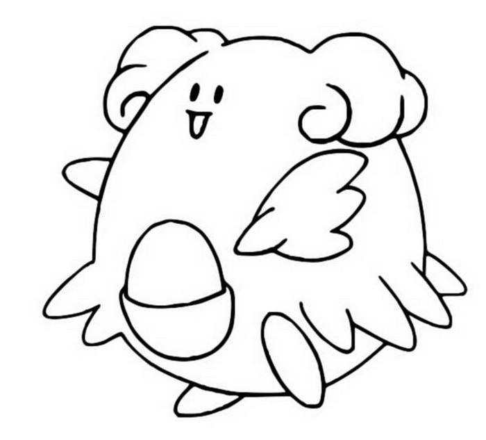 coloriage pokemon Leuphorie