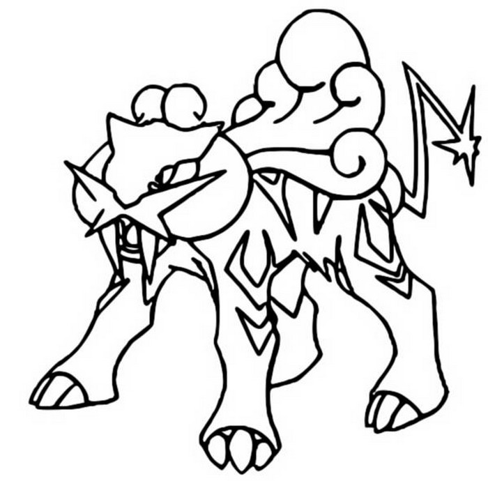 coloriage pokemon Raikou