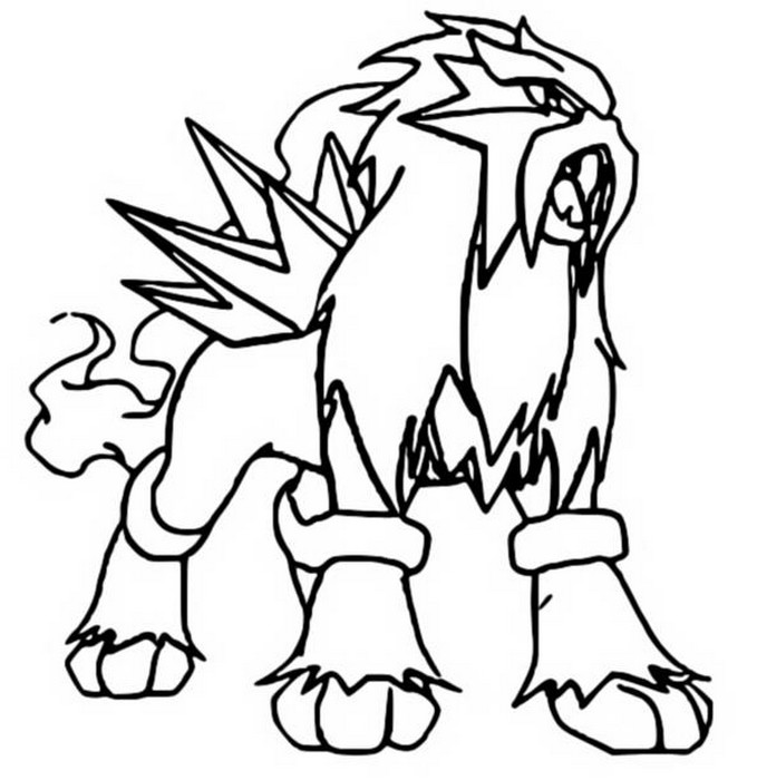 coloriage pokemon Entei