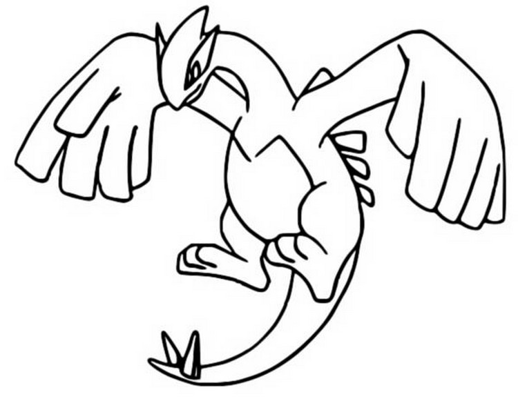 coloriage pokemon Lugia
