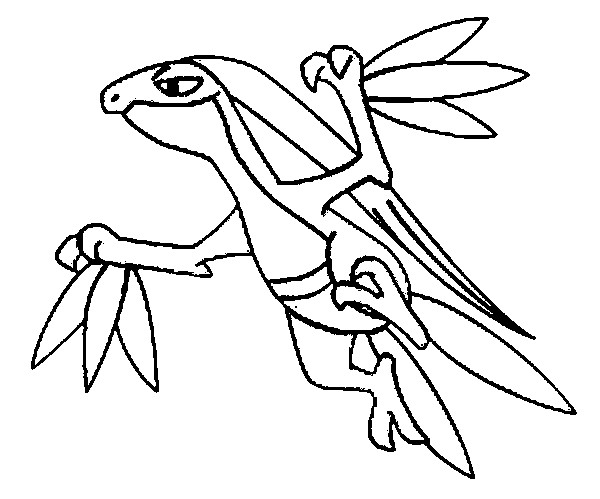 coloriage pokemon Massko