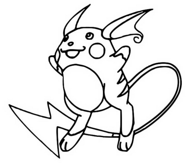 coloriage pokemon Raichu