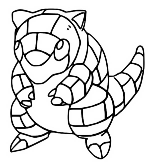 coloriage pokemon Sabelette