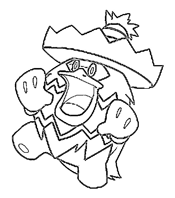 coloriage pokemon Ludicolo