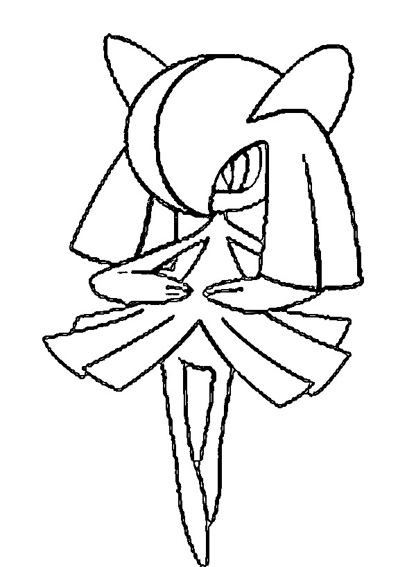 coloriage pokemon Kirlia