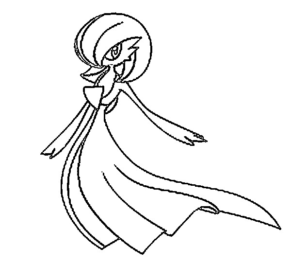 coloriage pokemon Gardevoir