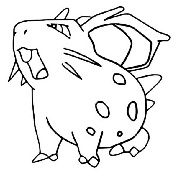 coloriage pokemon Nidoran♀