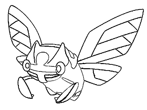 coloriage pokemon Ninjask
