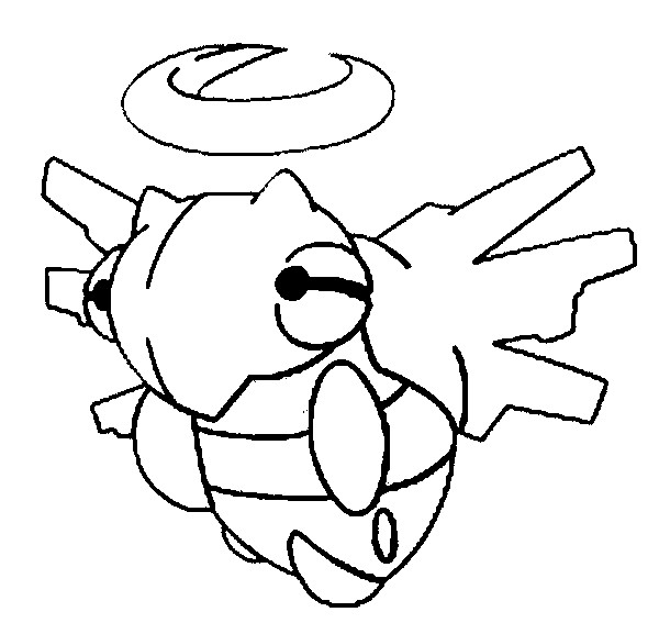 coloriage pokemon Munja