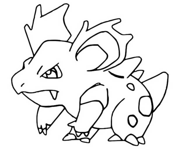 coloriage pokemon Nidorina