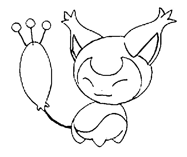 coloriage pokemon Skitty