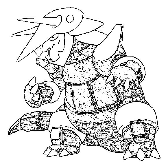 coloriage pokemon Galeking