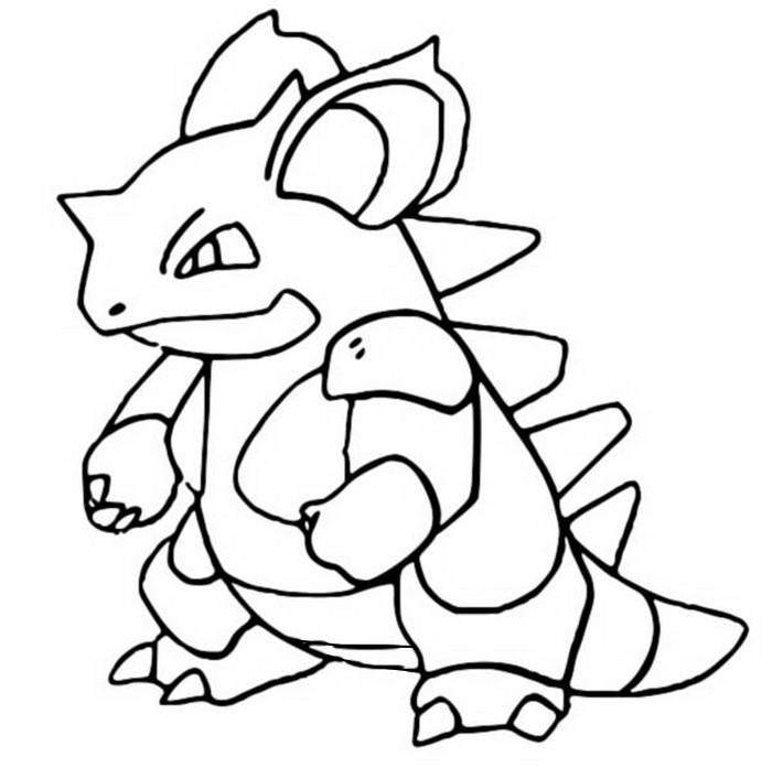 coloriage pokemon Nidoqueen