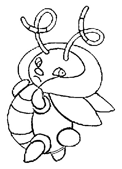 coloriage pokemon Muciole